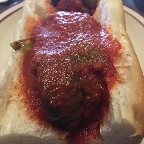 Meatball Sandwich With Peppers @ Angelo's Civita Farnese Restaurant