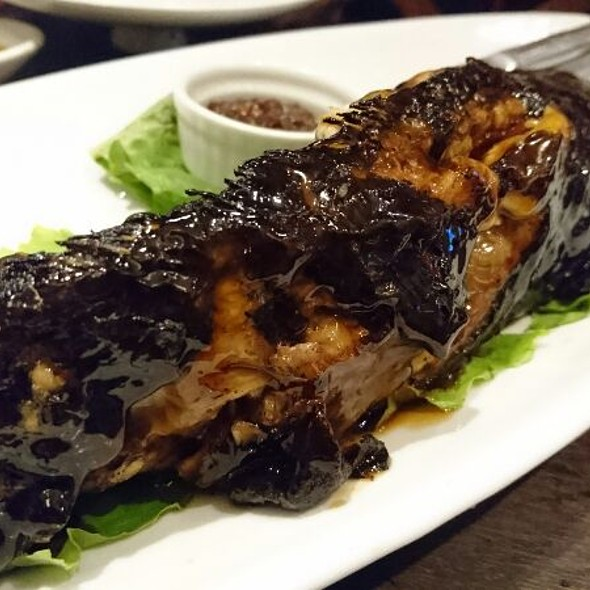 Grilled Hito With Honey Shrimp Sauce