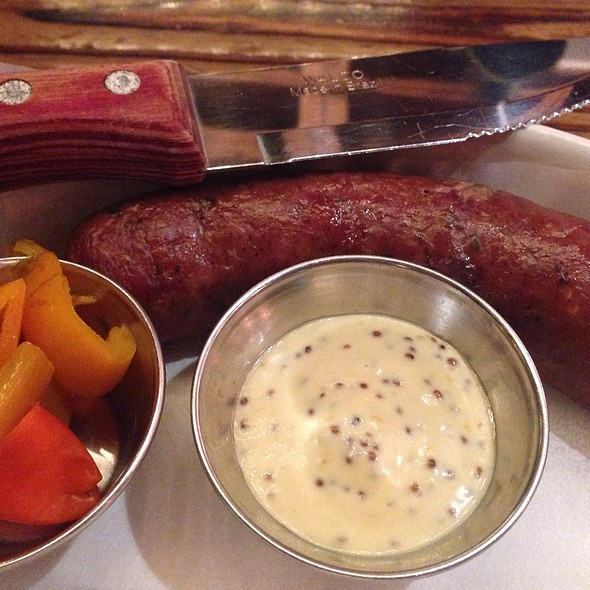 Garlic Sausage With A Tangy Mustard Sidecar