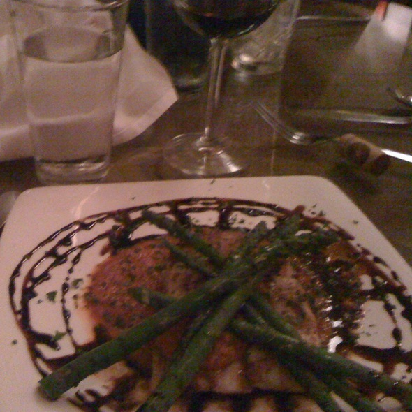 Grouper With Asparagus, Marinara And Balsamic Reduction - Rumours East, Nashville, TN