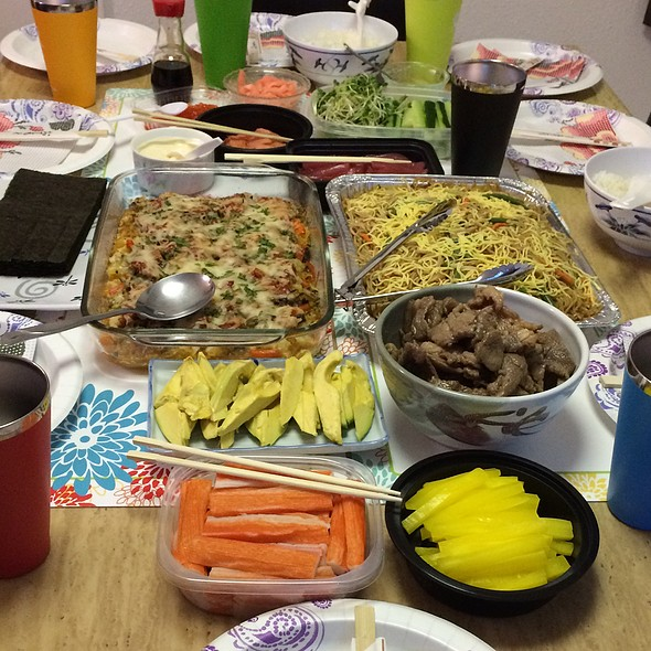 Sushi Party Spread