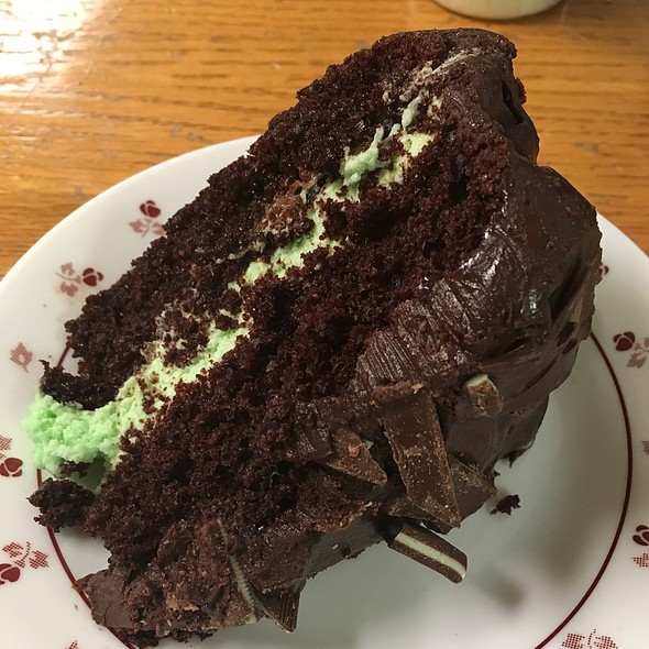 Andes Mint Chocolate Cake @ Park Ave Diner