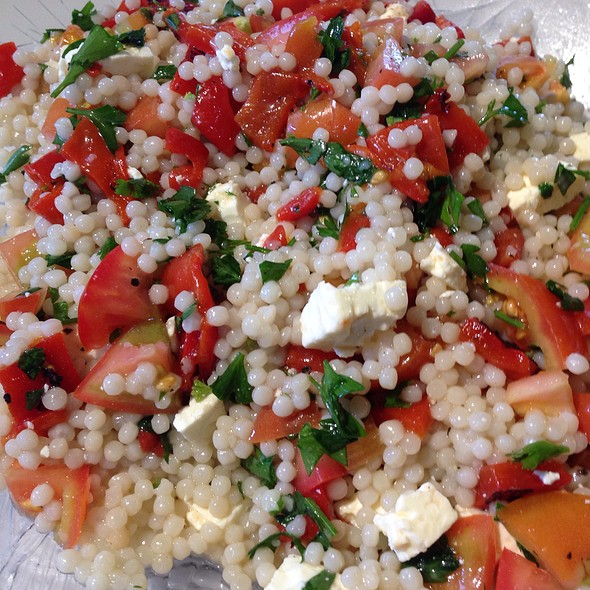 Pearl Couscous With Fetta, Roasted Capsicum, Tomato And Parsley