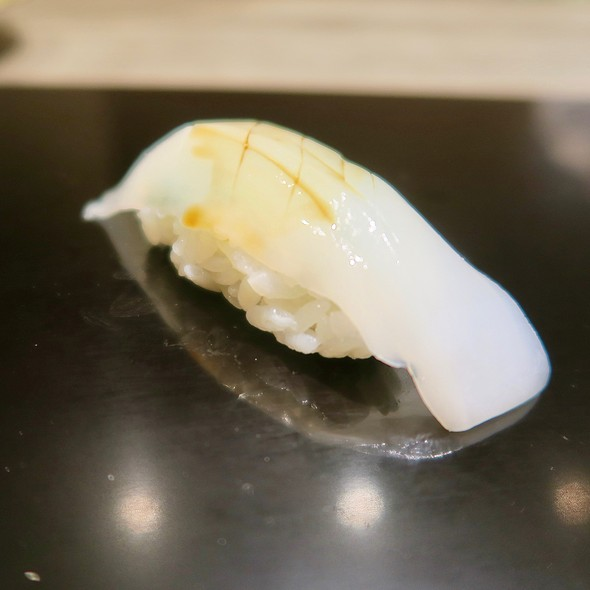 Squid And Shiso Leaf Nigiri