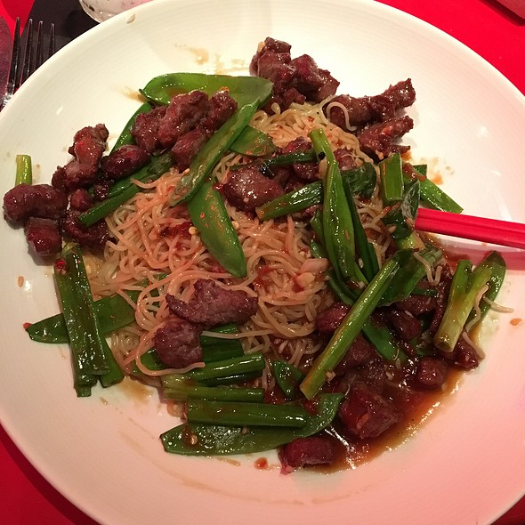 Shaken Beef With Garlic Butter Noodles