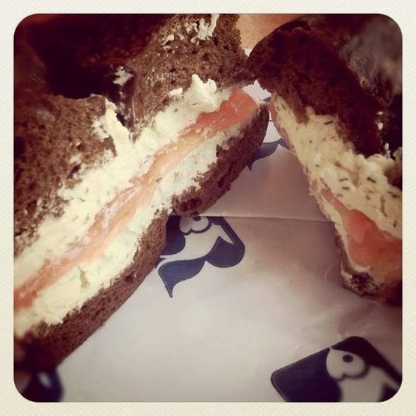 Bagel with Lox and Cream Cheese @ Russ & Daughters