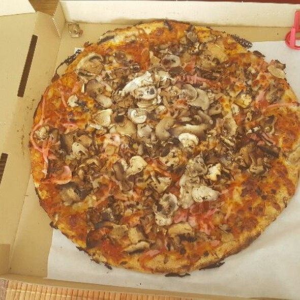 Ham And Mushroom Pizza Light Carb