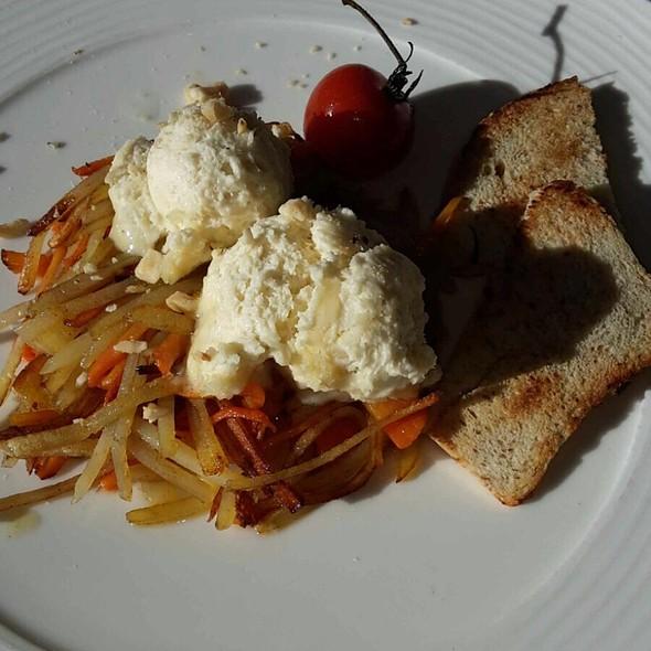 Patate E Carote Con Spuma Di Gorgonzola