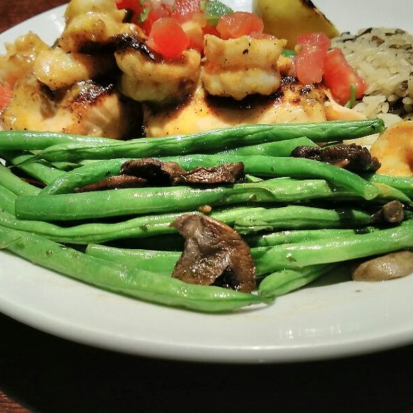 Roasted Green Breans And Mushrooms
