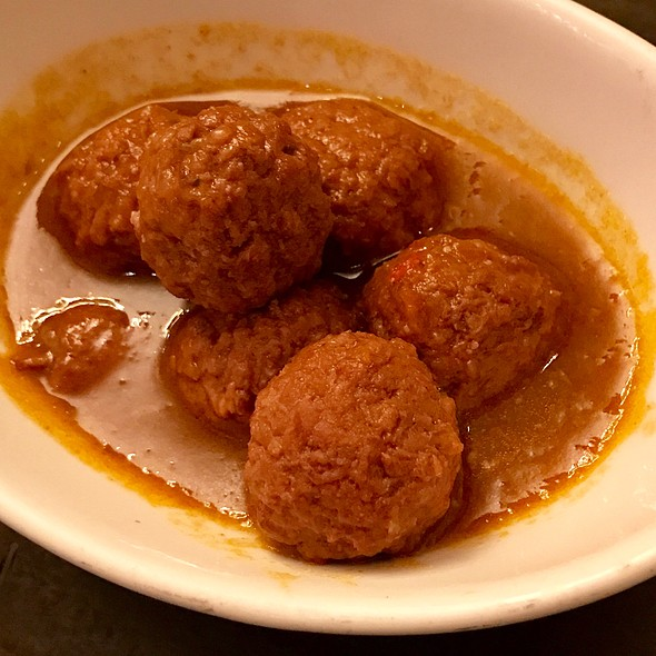albondigas - lamb meatballs in tomato sauce, sheep's milk cheese #swag #nyc #goodtimes  porn gasm topia ie #boqueria #meatballs