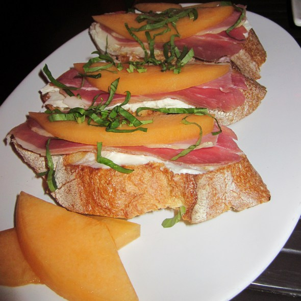Proscuitto and Melon Bruschetta @ Marc 49