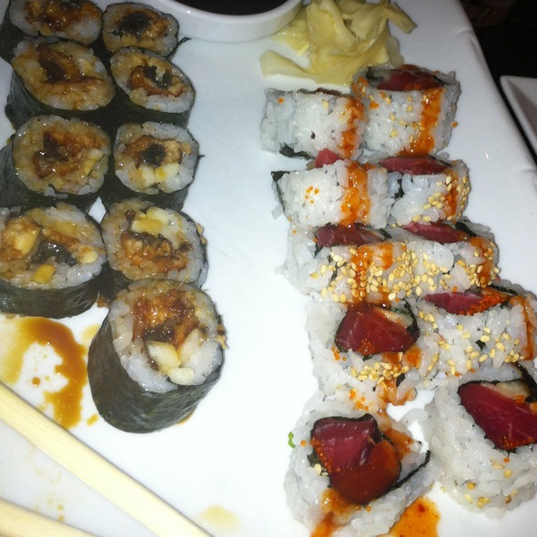 Spicy Tuna Roll And Eel Roll - Red Koi Lounge, Coral Gables, FL