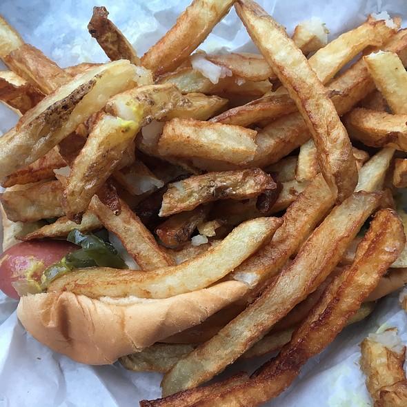 Hot dog and fries @ Gene's & Jude's