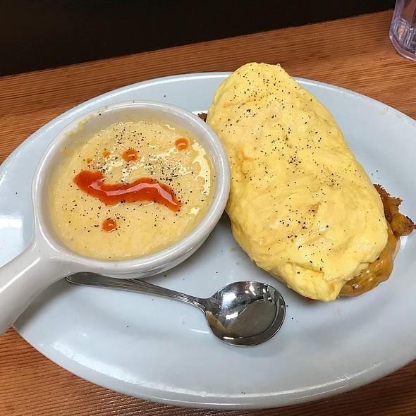 Egg, Sausage & Biscuit Tartine