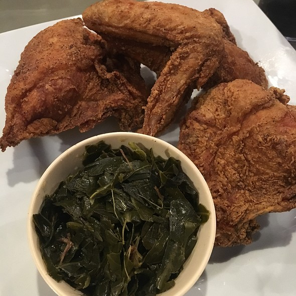Fried Chicken & Collard Greens @ Beola's Southern Cuisine