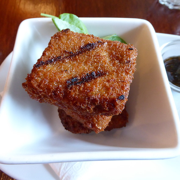 Panko-crumbed braised lamb belly