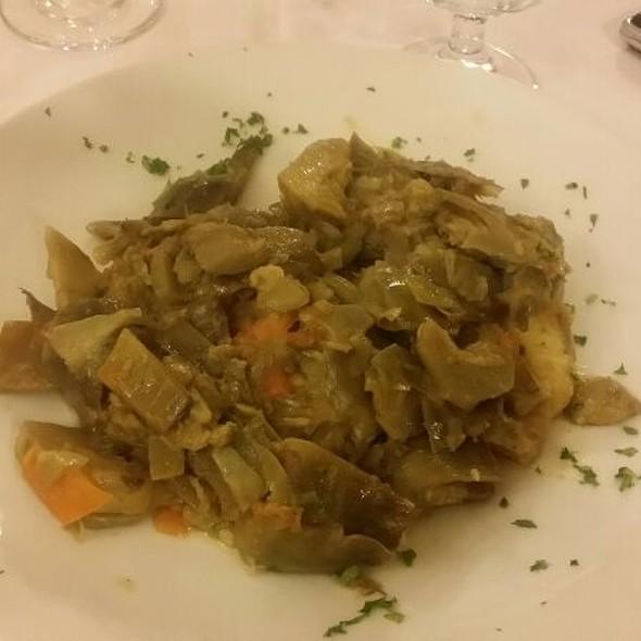 Trancio Di Pescatrice Con Carciofi @ Ristorante San Marco