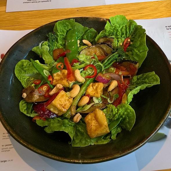 Warm Tofu Chilli Salad