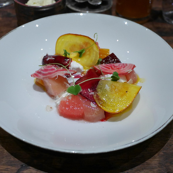 Winter Beets, Grapefruit, Cottage Cheese