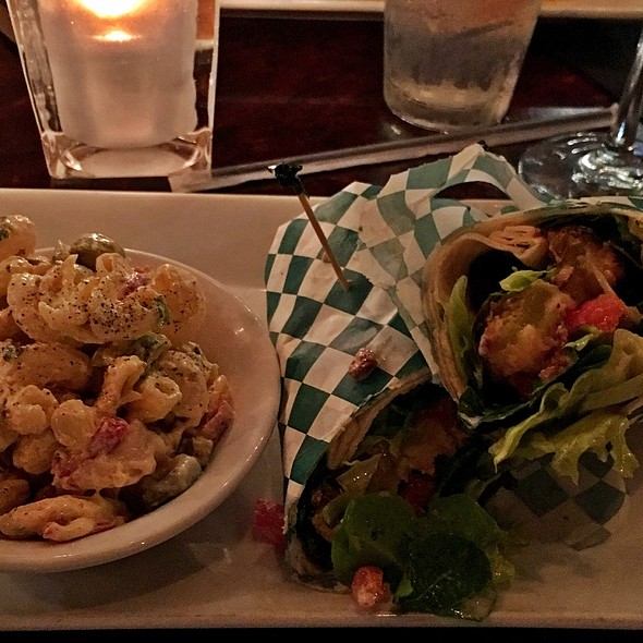 Fried Green Tomato Wrap With Pasta Salad
