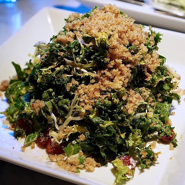 Kale and sherry salad, pecan parmesan, cranberries