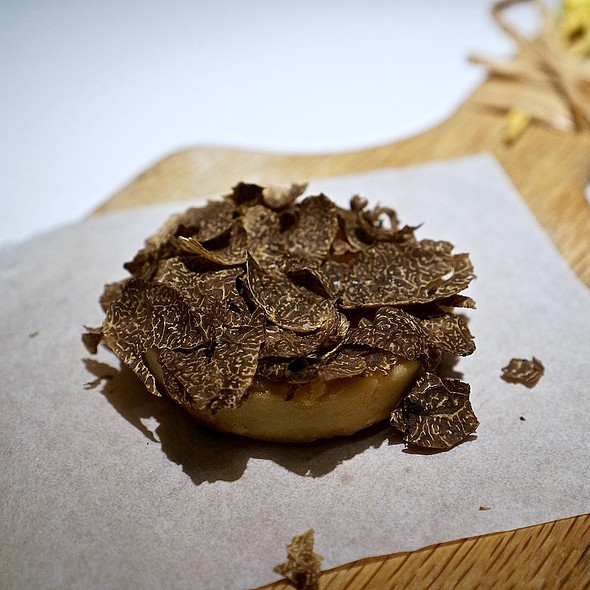 Vidalia onion tart, Périgord black winter truffles @ Tru