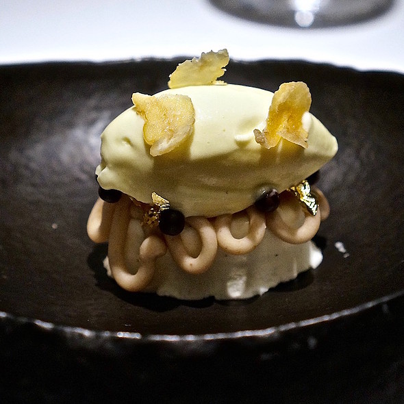 Alba white truffle ice cream, chestnut, Acacia honey @ Tru