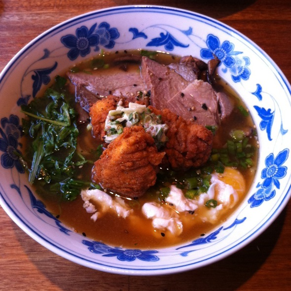Fried Chicken, Egg, Pork Ramen! @ Boke Bowl