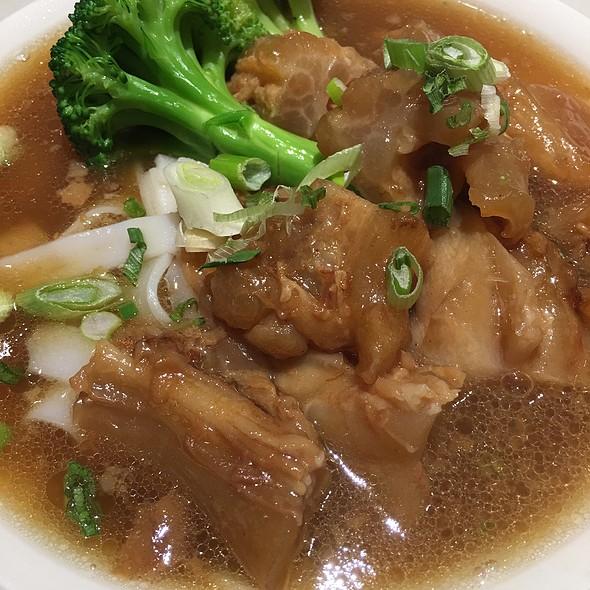 Beef Tendon And Shrimp Wonton Rice Noodle Soup