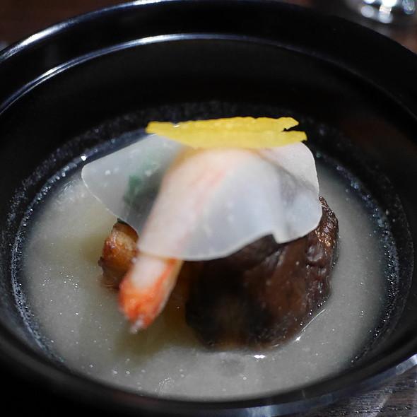 Clear Soup with Shrimp Dumpling, King Crab