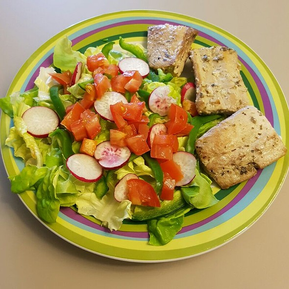 Mahi Mahi And Salad @ Home Sweet Home