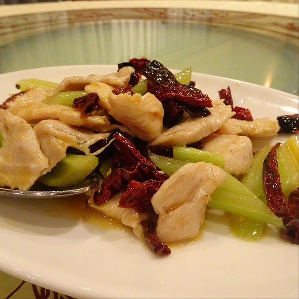 Sichuan Style Wok Fried Chicken With Dried Chilli And Celery