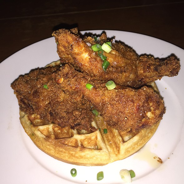 Fried Chicken & Buttermilk Waffles @ Town Hall Restaurant