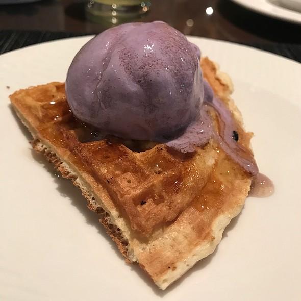 Purple Yam Icecream On Waffle @ Essence