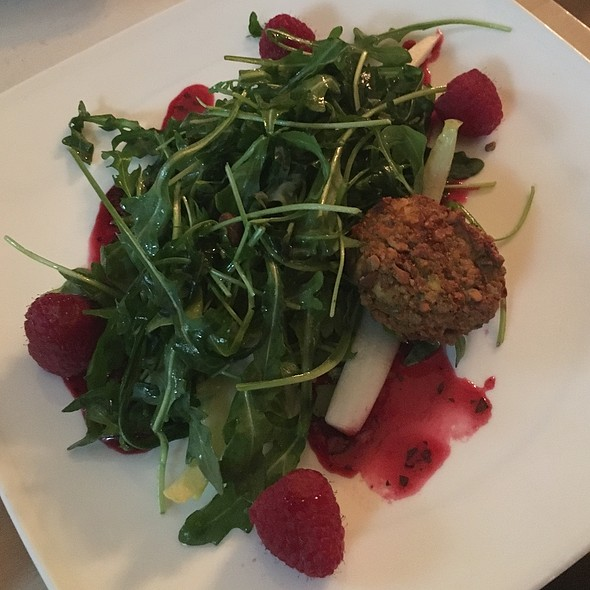 Pistachio Crusted Goat Cheese Salad
