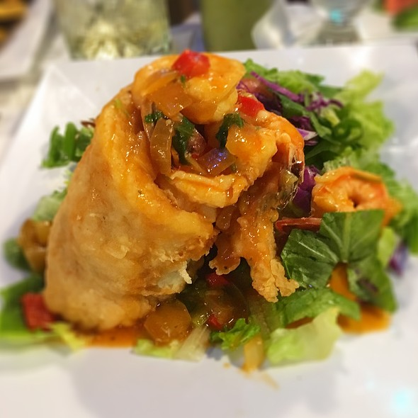 Grouper Fillet Stuffed With Shrimp @ Cayo Caribe