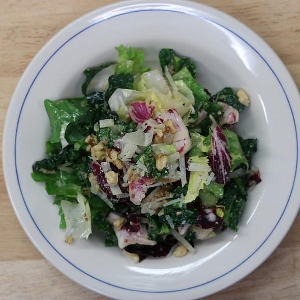 Kale & escarole salad, walnut vinaigrette, pecorino