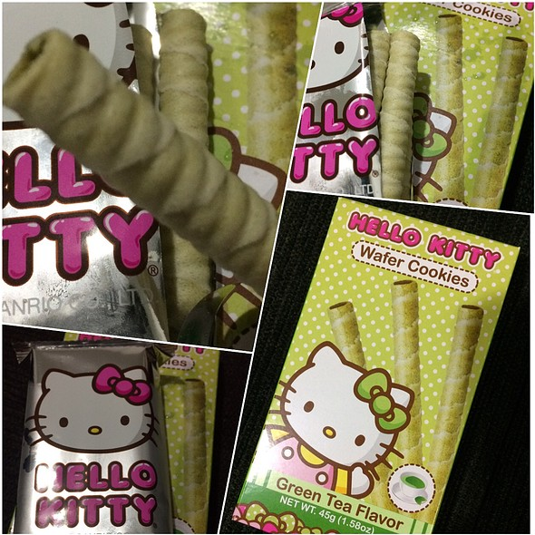 Hello Kitty Green Tea Wafer Cookies @ Somewhere In Japan