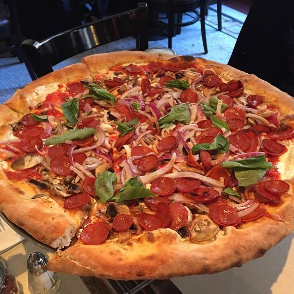 Pepperoni, Mushroom And Onion Pizza @ Patsy's Pizzeria