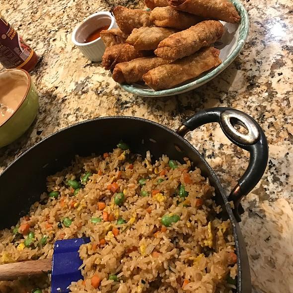 Fried Rice & Egg Rolls