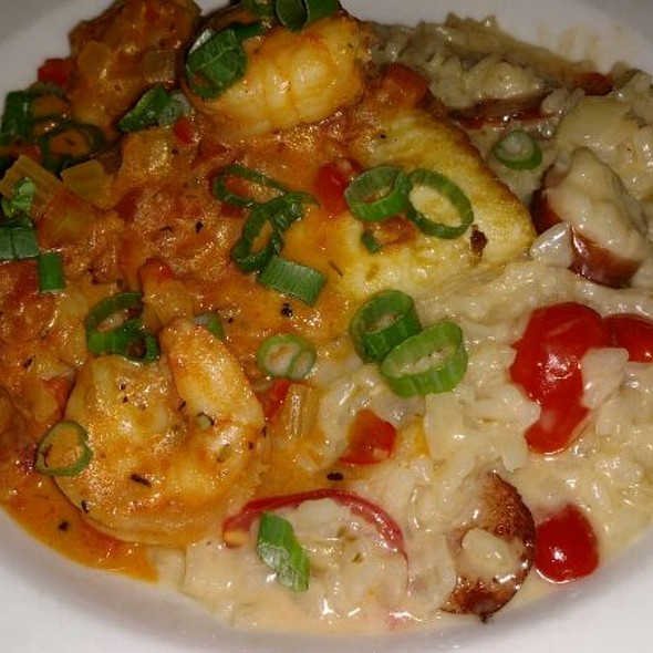 Andouille Risotto With Shrimp And Creole Sauce