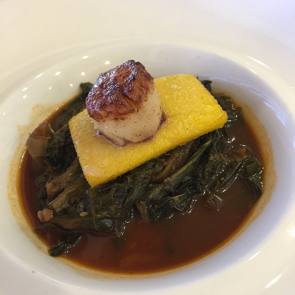 Scallop With Polenta And Greens @ 24 North Market St.