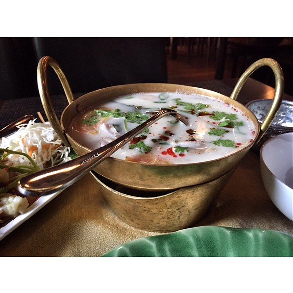 Tom Khar Gai (Spicy Coconut Soup) @ Baan Thai Restaurant