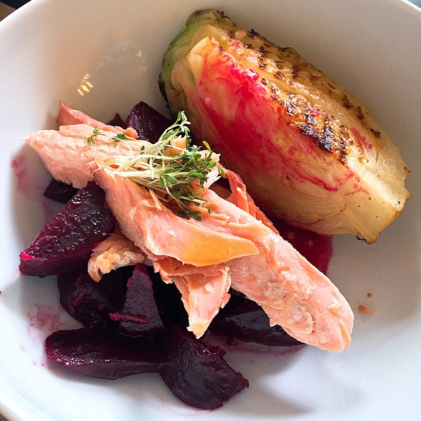 Salmon Trout, Beetroot, Cabbage