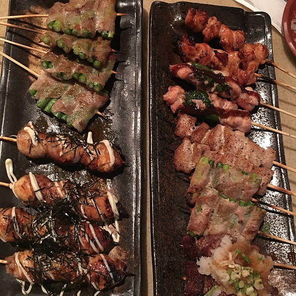 Assorted Charcoal Grilled Skewers @ Zakkushi Japanese Restaurant