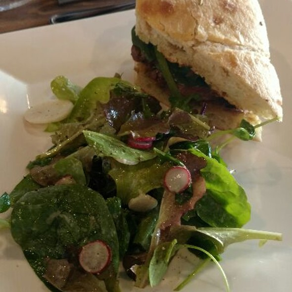 Steak Sandwich And Salad
