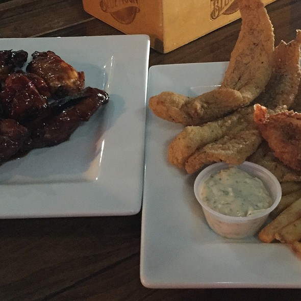 Bourbon Bbq Wings And Walleye Fillets