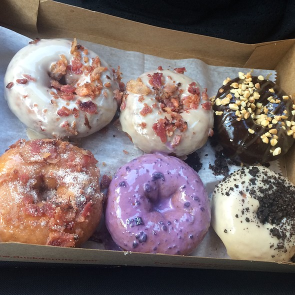 Maple Bacon Donuts @ Duck Donuts