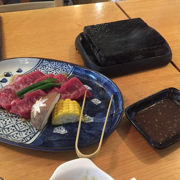 Wagyu Beef Grilled On Hot Stone @ Kisuke