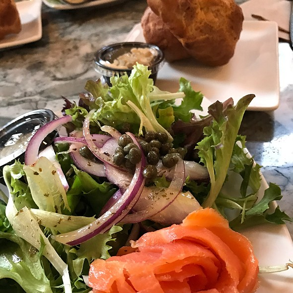 Smoked Salmon Salad With Popovers And Maple Butter